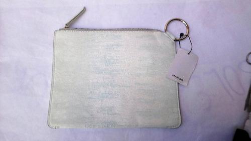 Imagen 1 de 3 de Mng Mango Clutch Bolsa De Mano Blanca