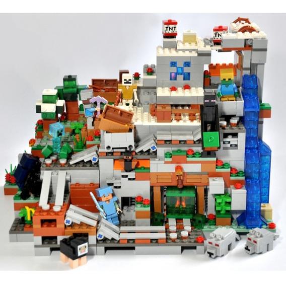 Blocos Mine Montar 1315 Pç Caverna Craft Brinquedo Lego Top