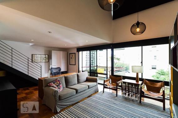 Apartamento No 4º Andar Mobiliado Com 2 Dormitórios E 2 Garagens - Id: 892977088 - 277088