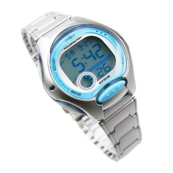 Relógio Casio Feminino Lw-200 D Cronômetro Alarme Wr-50 Azul