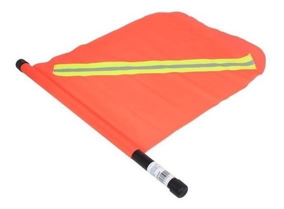 Banderín De Pvc Fluorescente Con Reflejante Señal Transito