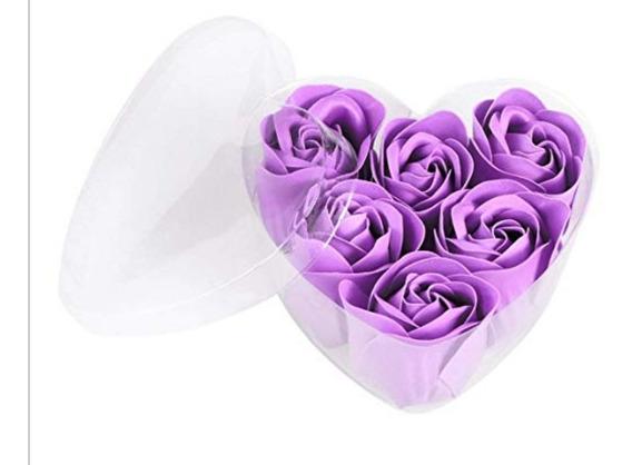 10 Corazones De 6 Rosas De Jabon Regalo 14 De Febrero