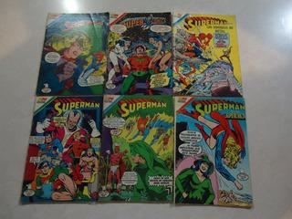 Lote De 6 Comics De Editorial Novaro Superman