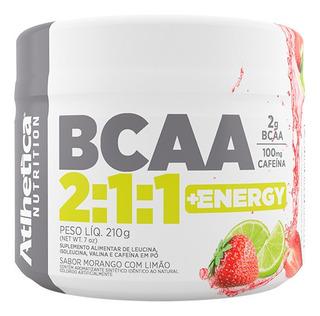 Bcaa 2:1:1 + Energy 210g Morango/limão Atlhetica
