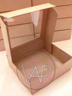 Cajas De Cartón Con Visor En Acetato Docena