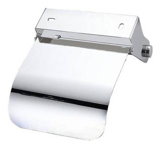 Porta Rollo Papel Higiénico Acero Inoxidable Con Tapa Baño