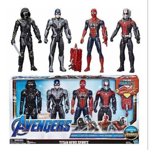 Avengers Endgame Set 4 Figuras Spiderman Roney Cap Ant Man