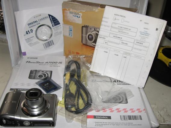 Câmera Canon 1100 Is Não Liga Cartão 128mb Com Cabo Na Caixa