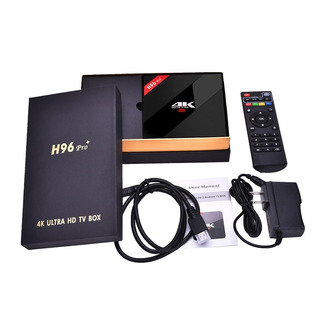 Convertidor Tv Box Android H96 Pro Plus 16gb 2gb Ultra Hd 4k