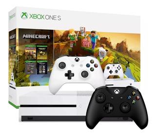 Consola Xbox One S 1tb Hdr 4k 2 Controles Bundle Juego Original Nueva