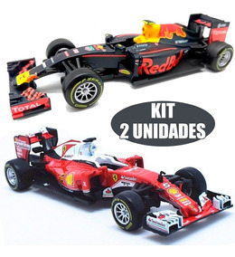 Kit 2 Miniatura Formula 1 Ferrari Gran + Red Bull Tag Heuer
