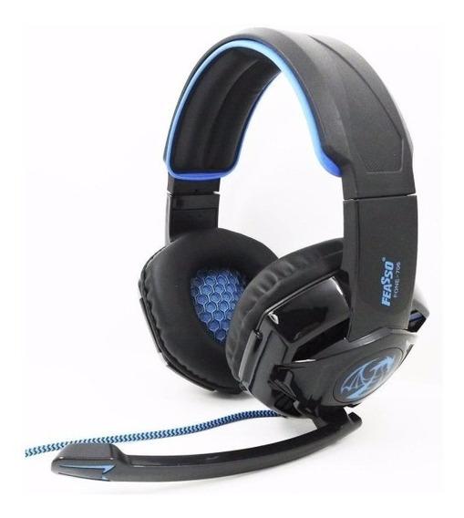 Headset Gamer Fone-706 ( Led Azul )