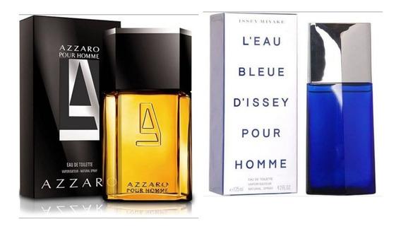 Perfume Issey Miyake Blue 125ml + Azarro Pour Homme 100ml