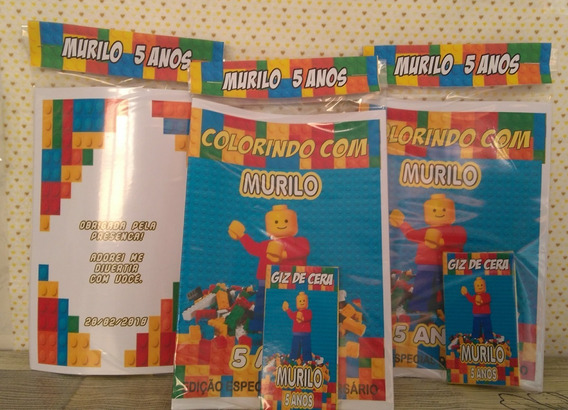 35 Kits Colorir - Livro Personalizado + Giz De Cera