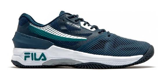 Zapatillas Fila Ot Pro Clay Tenis Padle Original Azul