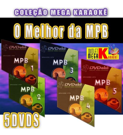 Coleção Karaokê Mpb - Kit Com 5 Dvds Pronto Pra Cantar 12x
