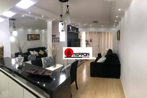 Apartamento Com 3 Dormitórios À Venda, 65 M² Por R$ 398.000,00 - Ponte Grande - Guarulhos/sp - Ap2122