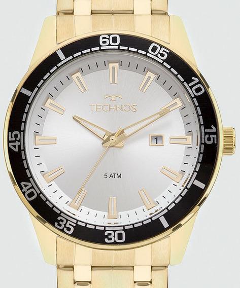 Relógio Technos Masculino Dourado Performance 2115mmy/4k