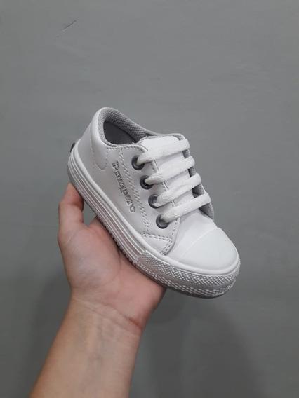 Zapatillas Pampero Sintético Blanco Gris Con Cordón