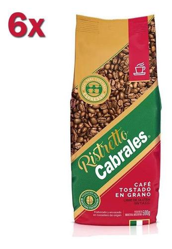 6x Cafe Grano Cabrales Ristretto 500gr Tostado 3kg