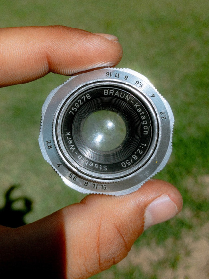 Lente 50mm 2.8 Alema Braun Paxina M39 Para Leica