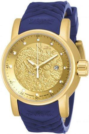 Relógio Invicta Yakuza 18215 Automático Banhado Ouro 18k