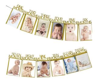 Varal De Fotos Recém Nascido Mesversário Bebê