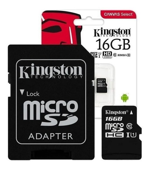 Cartão De Memória Kingston Sdc4 Com Adaptador Sd 16gb