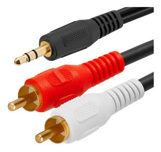 Cable Audio Estéreo Auxiliar Mini Plug Jack A 2 Rca 1,50m