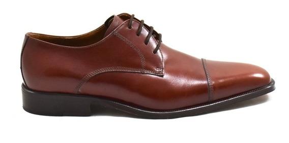 Zapatos De Cuero Bordeaux Leather Avellana