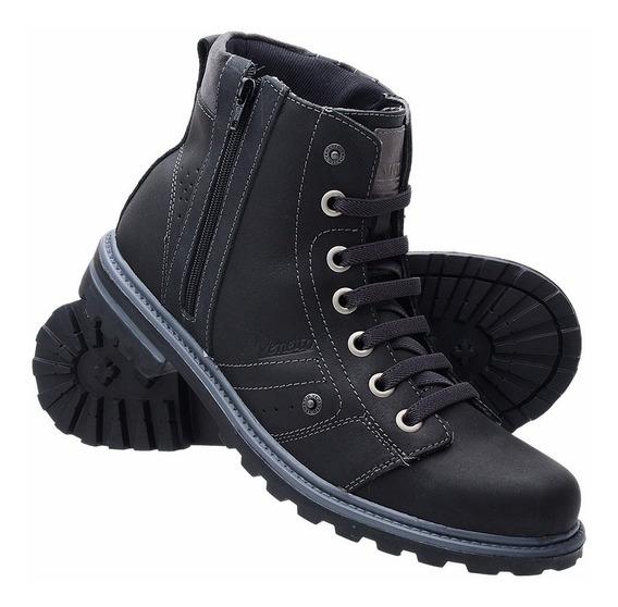 Bota Coturno Adventure Casual Ziper Dhl Sapato Exclusiva