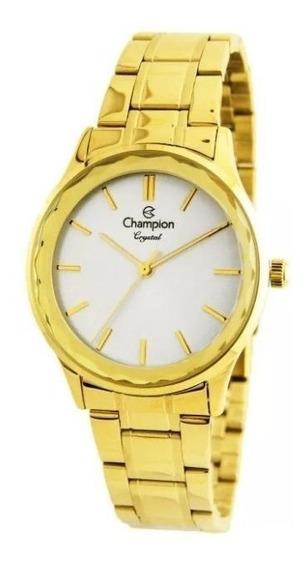 Relógio Champion Feminino Analógico Dourado Cn25574h
