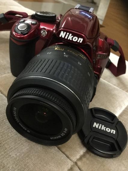Nikon D3100 Vermelha Com Lente 18 55mm