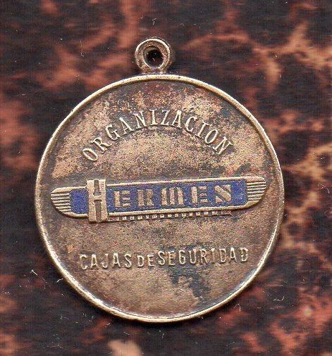 Medalla Publicitaria Cajas De Seguridad Hermes - Esmalte