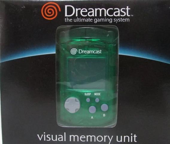 Vmu Visual Memory Unit Verde Sega Dreamcast Original Lacrado