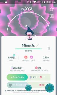 Mime Jr. Pokemon Go - Entrega Inmediata