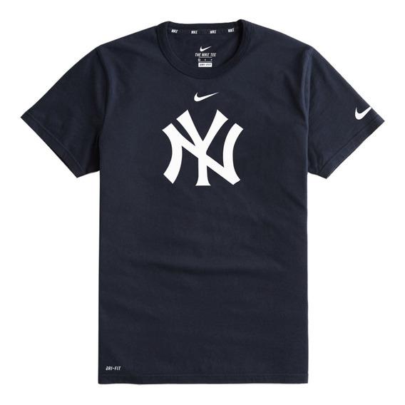 Playera Nike Algodón Yankees Ny Caballero