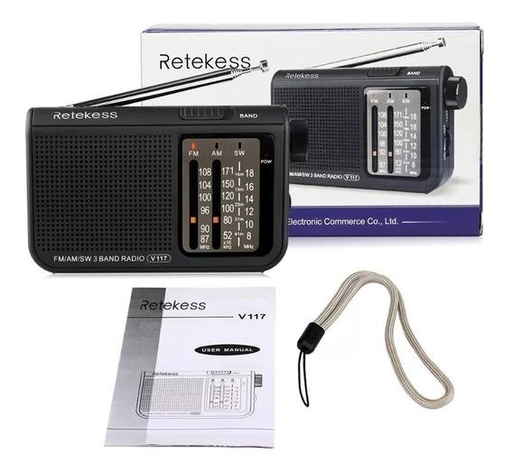 Radio Retekess V117 Am, Fm E Sw
