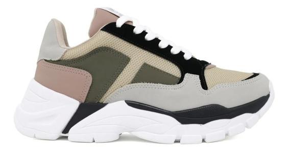 Tênis Feminino Sneaker Chunky Via Marte 2309 Lançamento