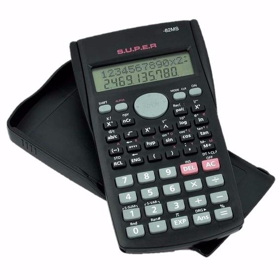 Calculadora Cientifica 240 Funções 2 Linhas + Capa Kit 10 Pç