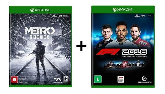 Combo Metro Exodus + F1 2018 Formula 1 18 - Xbox One - Novo
