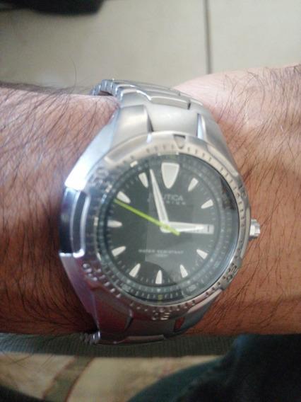 Reloj Nautica Titanio, Buceo, Surf, Pesca,camping, Yate,golf