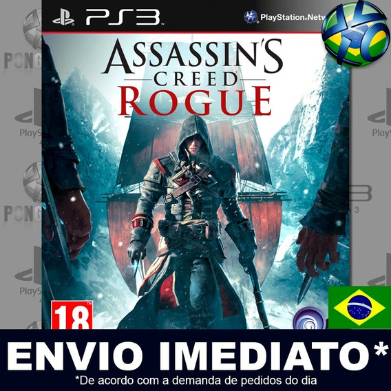Assassins Creed Rogue Ps3 Psn Dublado Português Pt Br