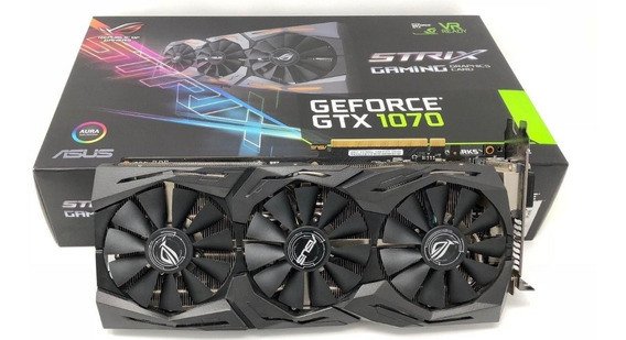 Asus Geforce Gtx1070 8gb Republic Of Gamers Strix Oc Edition