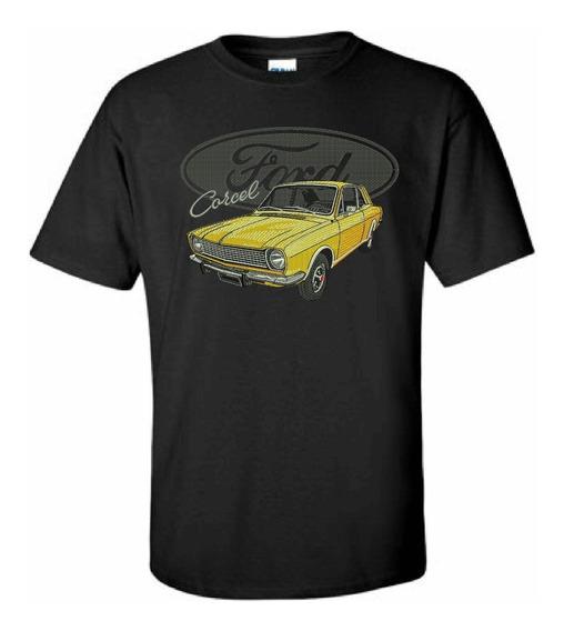 Camiseta Bordada Corcel De Luxo Exclusiva Carros Antigos Fusca Opala Maverick Ford A Melhor Super Qualidade