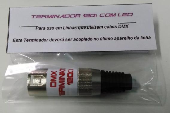 Kit Com 2 Terminador Dmx 120 Ohms Com Led (cabo Dmx)