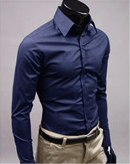 Camisas Vestir Caballero Camisa Moda Slim Fit Formal