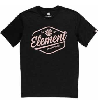 Remera M/c Element Swash Tee Black Hombre - 21197002