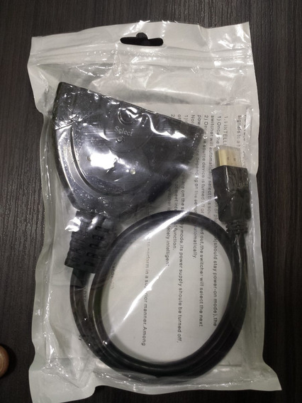 Adaptador Switch Hdmi 3 Entrada 1 Saida Full Hd 1080p