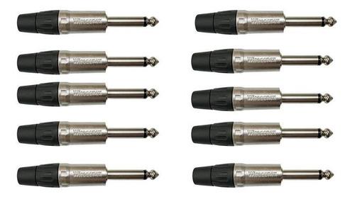 Imagem 1 de 2 de 10 Plug P10 Mono Wireconex Wc1112 Ts L Bk Ni